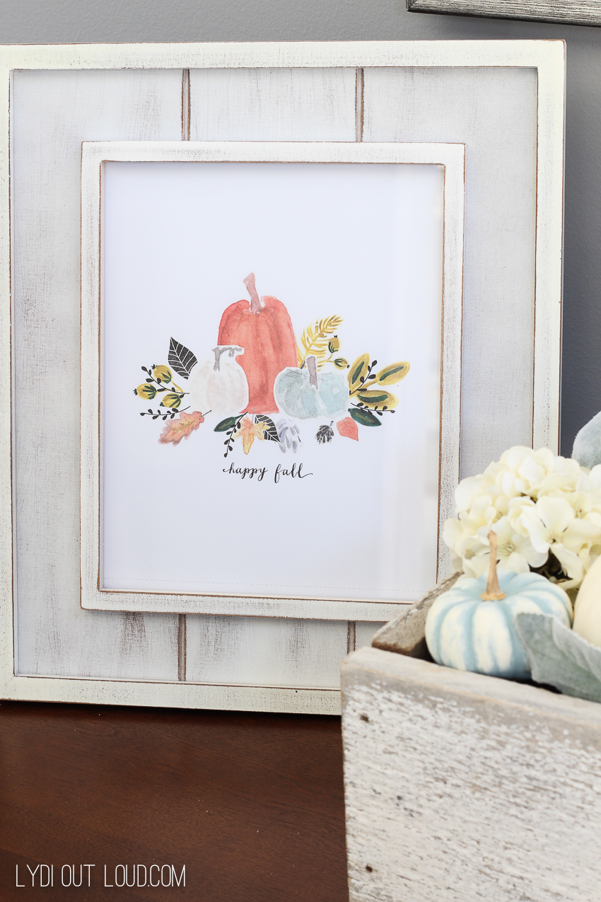 Happy Fall free printable art