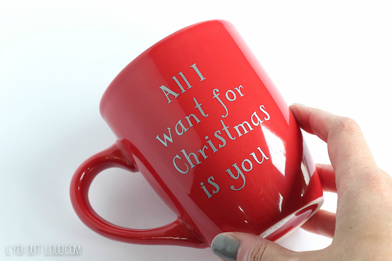 DIY Christmas Coffee Mugs
