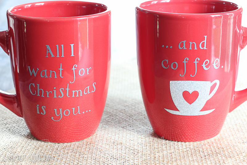 All I Want For Christmas DIY Christmas Coffee Mugs