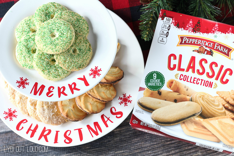 DIY Tiered Christmas Cookie Stand - this is so cute and easy to make!