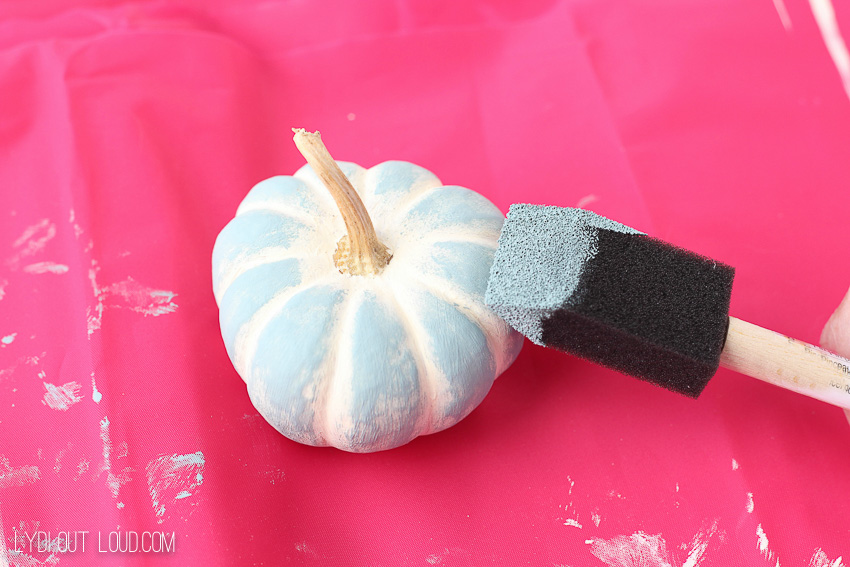 DIY Chalky Finish Pumpkins