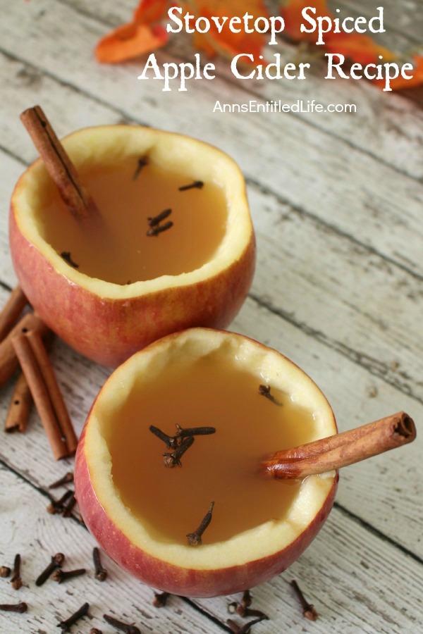 Stovetop Spiced Apple Cider