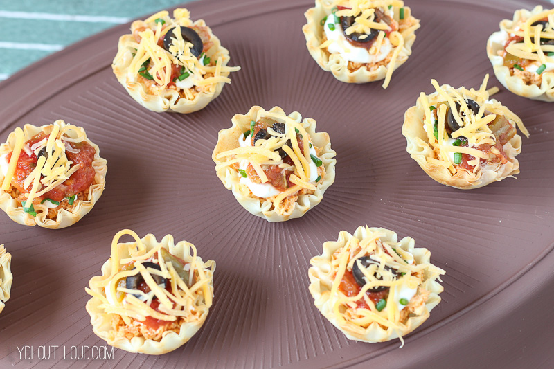 Chicken Taco Cups - tailgating recipe