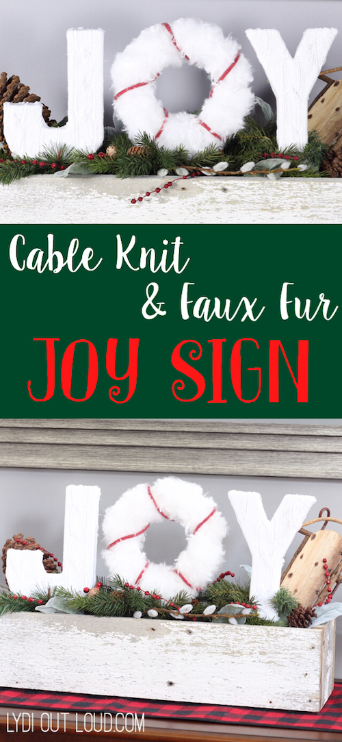 Christmas Joy Sign Planter Box - Lydi Out Loud