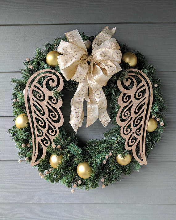 Angel Wings Christmas Wreath