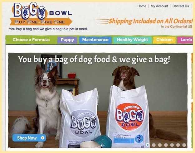 BOGO Bowl - love a charity that gives back to animals! <3