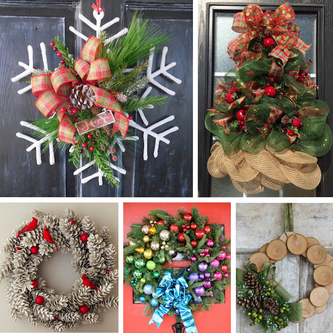 these christmas wreaths are making me swoon i want them all