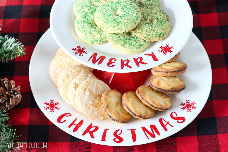 DIY Tiered Christmas Cookie Stand