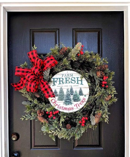 Farm Fresh Christmas Trees Wreath