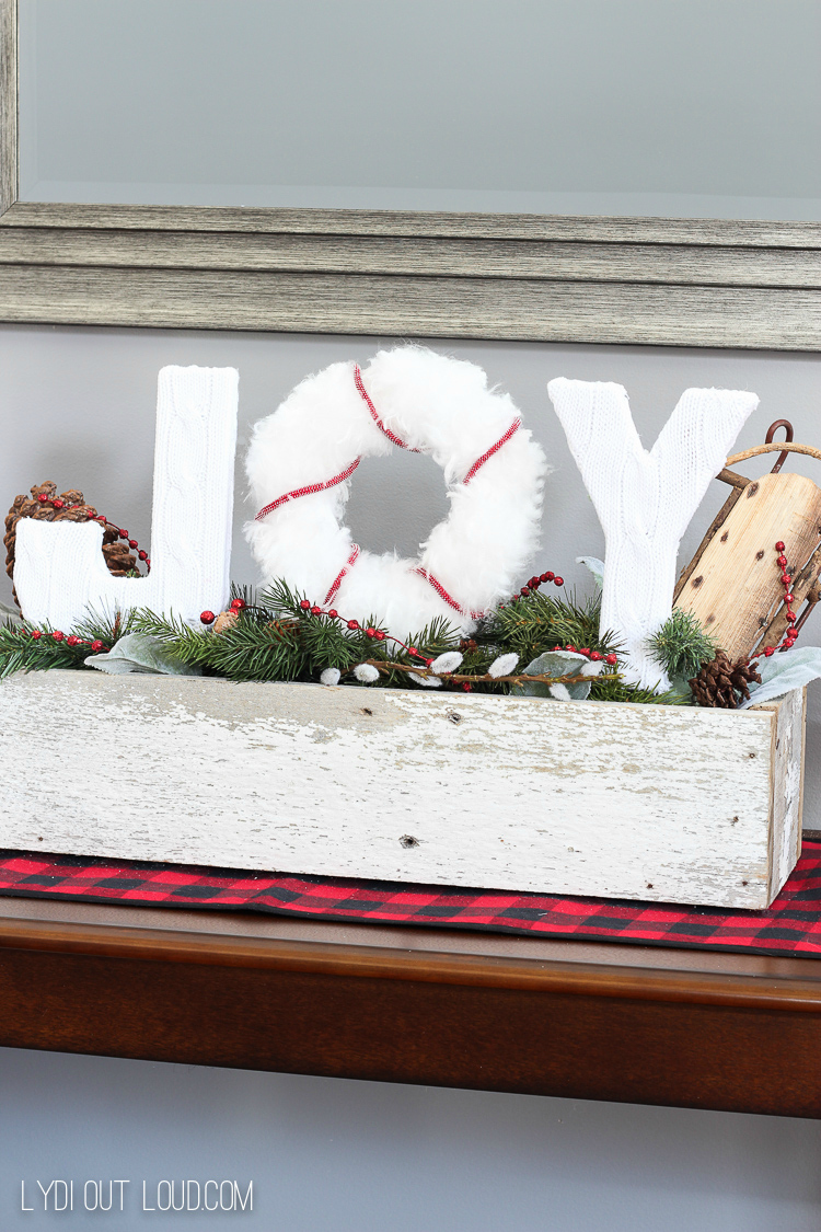 Christmas Joy Sign Planter Box