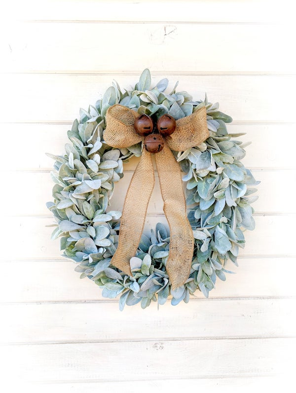 Lambs Ear and Rustic Bells Wreath