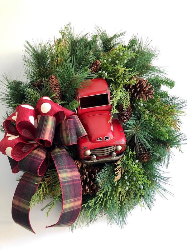 Red Truck Christmas Wreath
