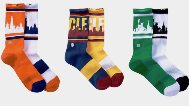 Skyline socks for charity - love this idea!