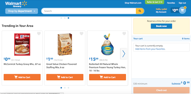 Walmart Online Grocery