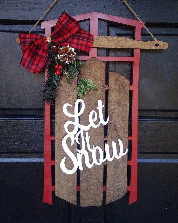 Wood Sled Door Hanger