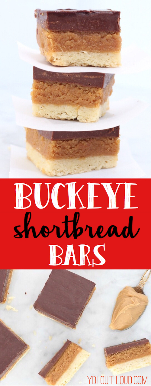 Buckeye Shortbread Bars - these are to DIE for delicious!