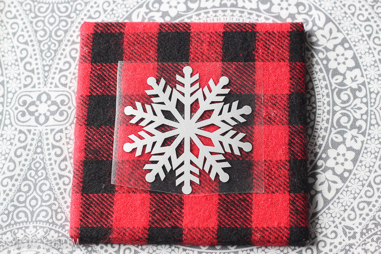 Buffalo Check Iron On Snowflake Coasters