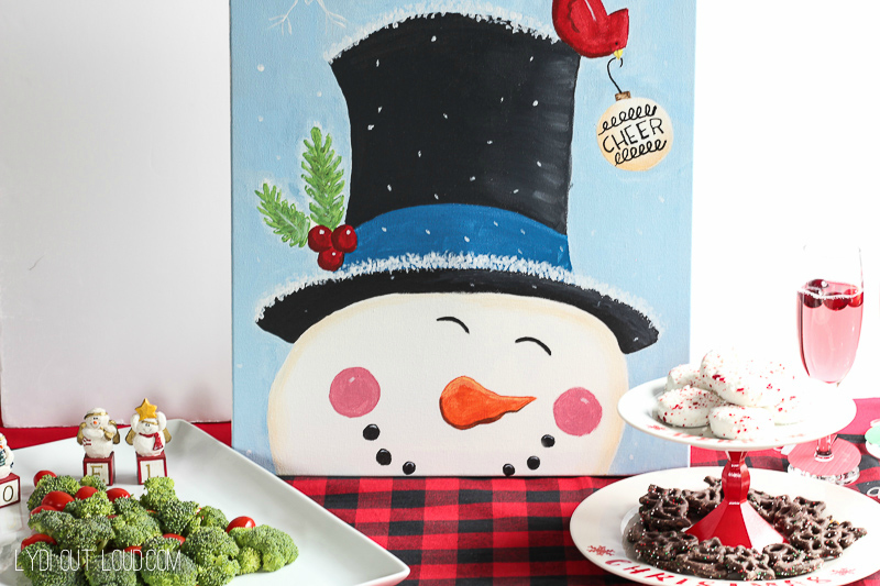 Christmas Painting Party - such a fun holiday party idea!