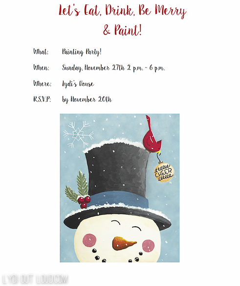 Christmas Painting Party Invitation