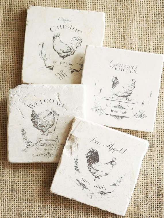These French Country Coasters are darling!