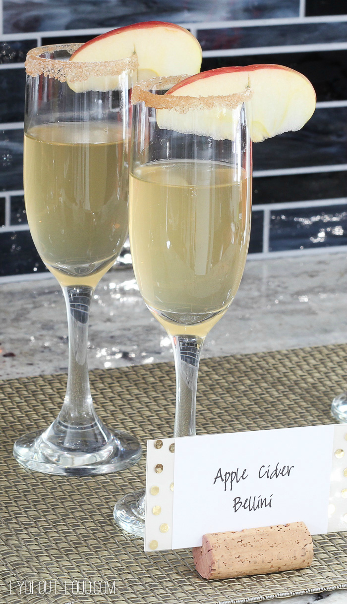 Apple Cider Bellini - soooo good!!!