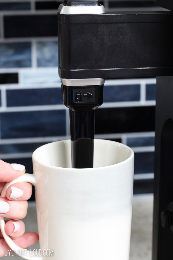 The Ninja Coffee Bar has a a built in frother! Yay for lattes at home!