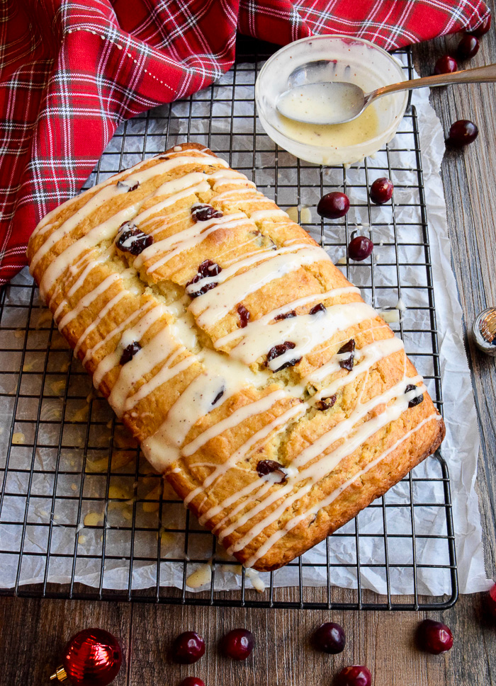 This Eggnog Quick Bread will become a holiday favorite for sure!