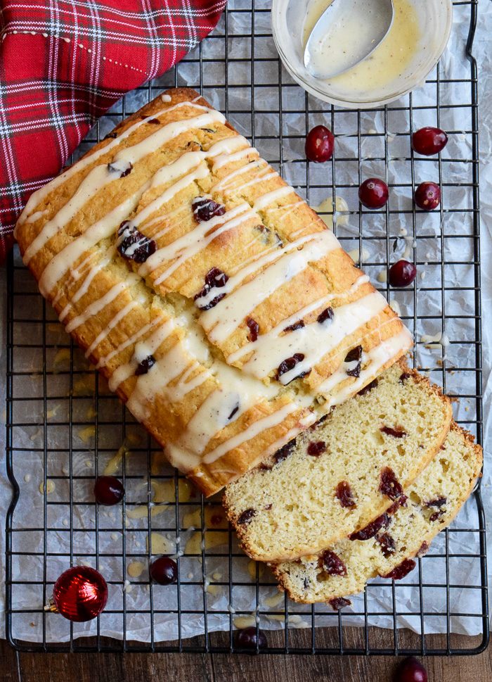 This Eggnog Cranberry Bread is our favorite Christmas breakfast!