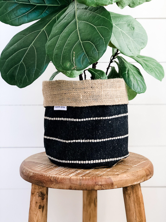 Burlap Planter Pot Holder