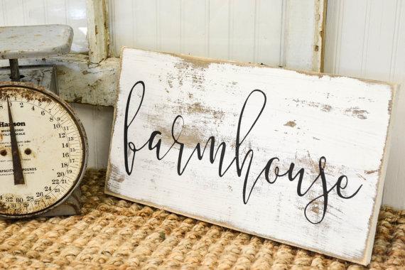 Ship Lap Wood Farmhouse Sign