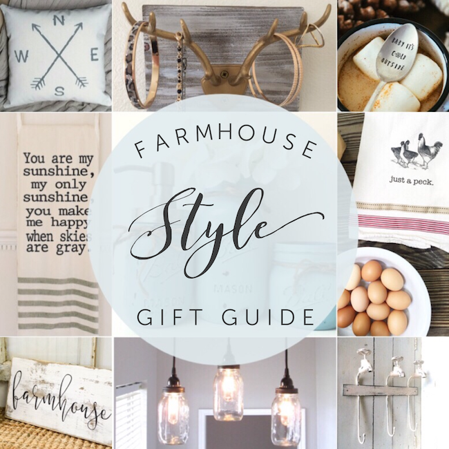 Farmhouse Style Gift Guide - so much great inspiration here Fixer Upper style!
