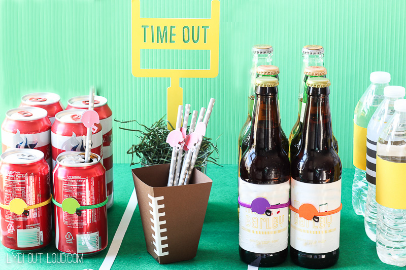 Fun Football Party Drink Station