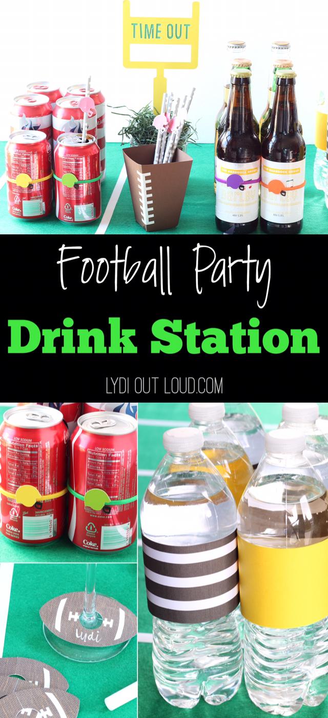 Such fun football party ideas!