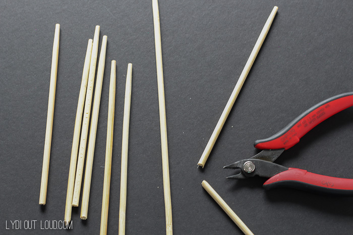 Trim chopsticks for DIY cocktail stirrers