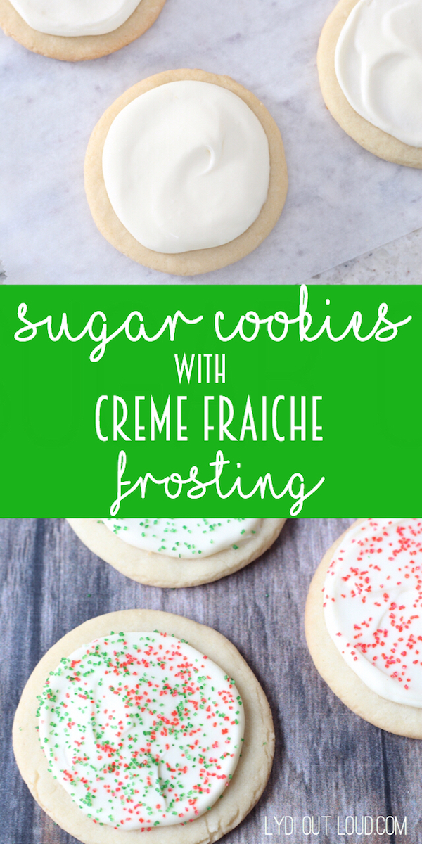 The Creme Fraiche Frosting on these sugar cookies totally make them! Sooo good!