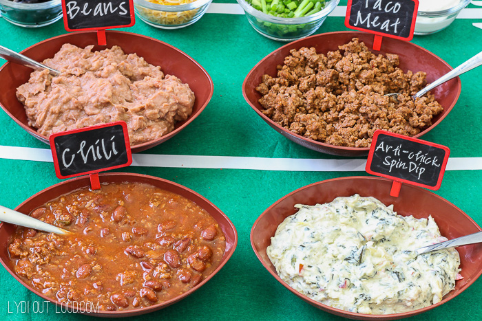 This make your own dip bar is perfect for a party!