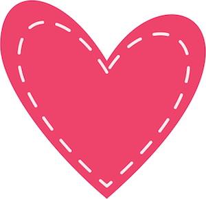 Heart for DIY Planner Clips