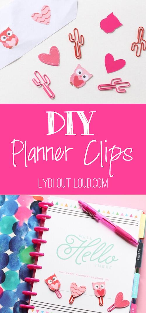 DIY Planner Clips
