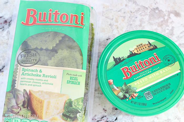 Spinach & Artichoke Dip Ravioli Bake