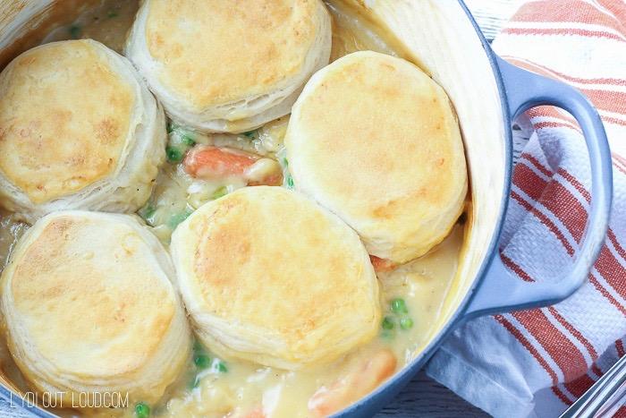 Delicious Turkey Biscuit Stew - perfect comfort food!