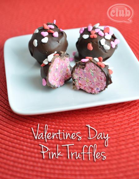 Valentine's Day Pink Truffles