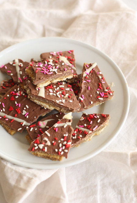 Valentine's Toffee with Sprinkles