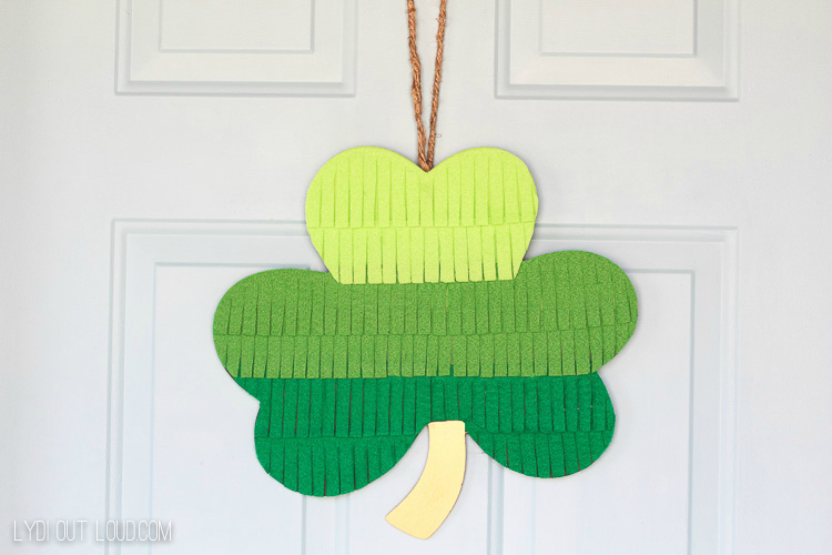 Ombre Fringe St. Patrick's Day Wreath