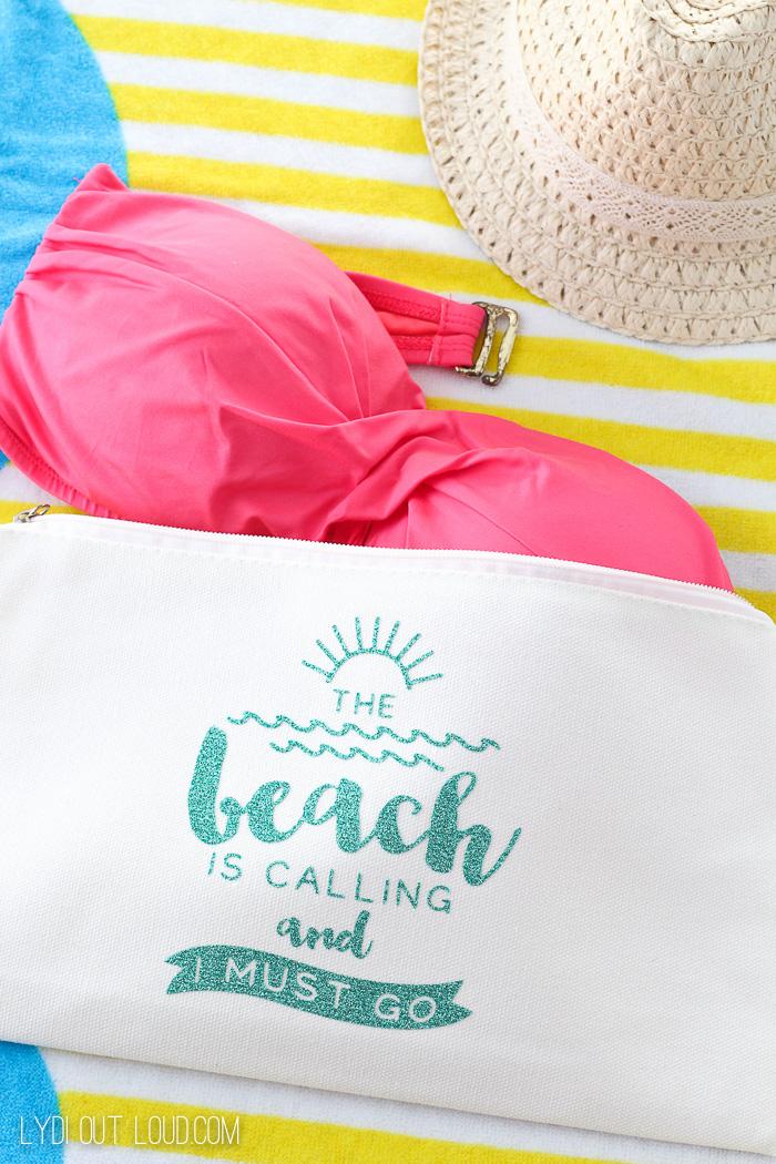 DIY Wet Bathing Suit Bag Tutorial