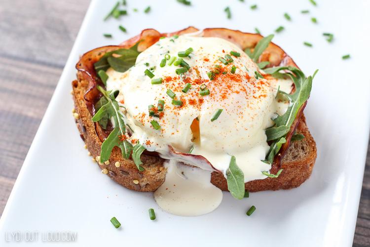 Eggs Benedict Breakfast Sandwich