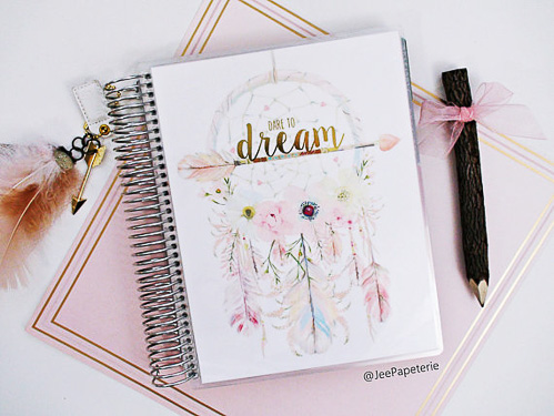 Dreamcatcher Cover Set made for use with Erin Condren Life Planner