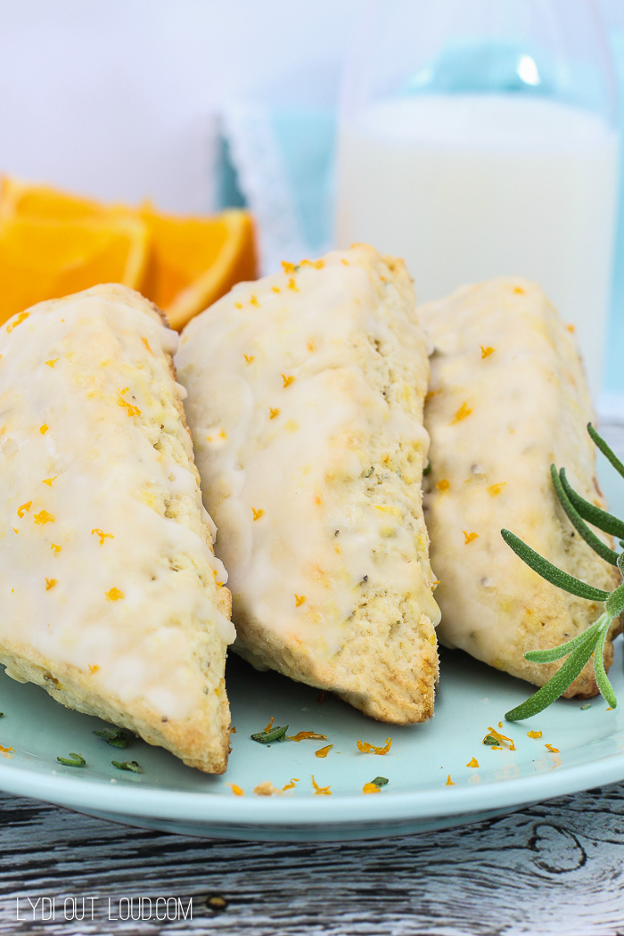 Foolproof Rosemary Citrus Scones turn out flaky and delicious every time!