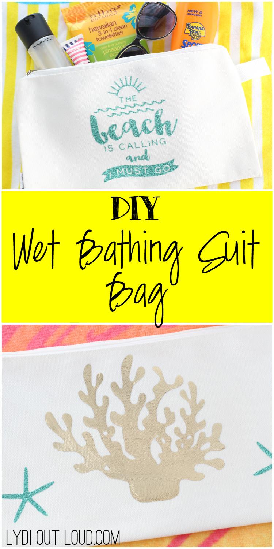 DIY Wet Bathing Suit Bag!