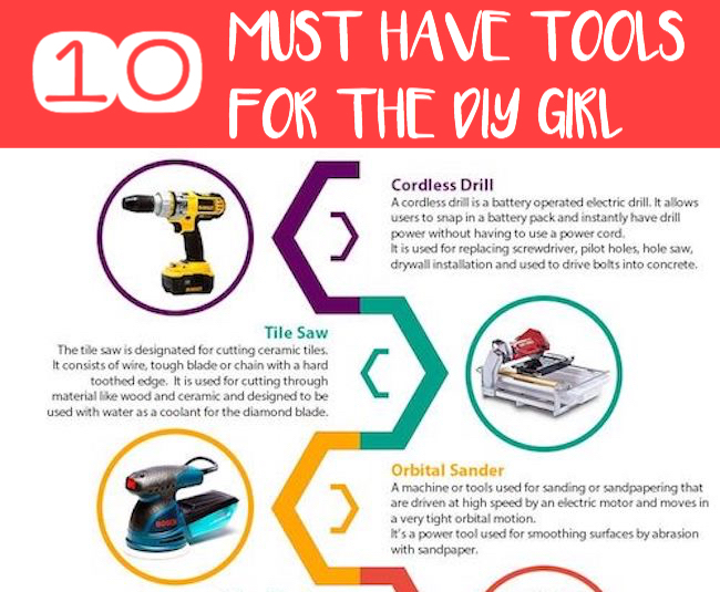 10 Must Have Tools for the DIY Girl
