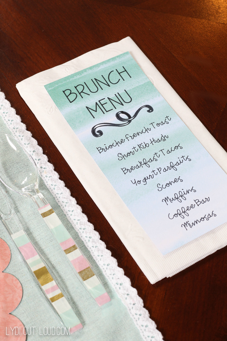 Beautiful Spring Brunch Tablescape